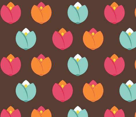 Spring Fair {Brown} fabric by printablegirl on Spoonflower - custom fabric