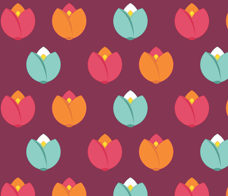 Spring Fair {Raspberry} fabric by printablegirl on Spoonflower - custom fabric