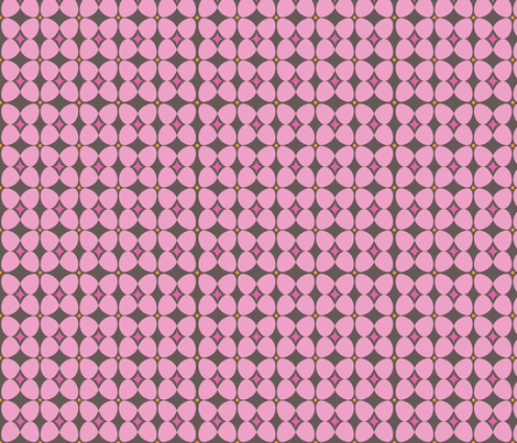Mod Flora {Brown/Pink} fabric by printablegirl on Spoonflower - custom fabric