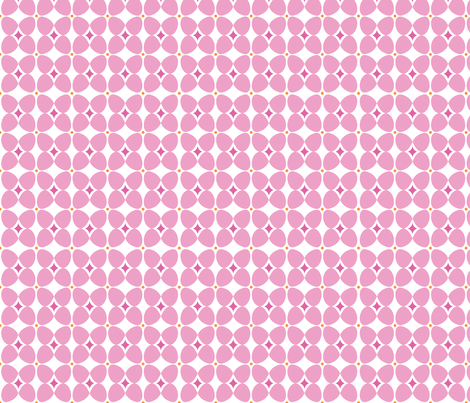 Mod Flora {White/Pink} fabric by printablegirl on Spoonflower - custom fabric
