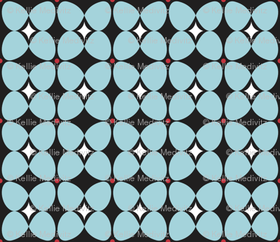 Mod Flora {Black/Blue}