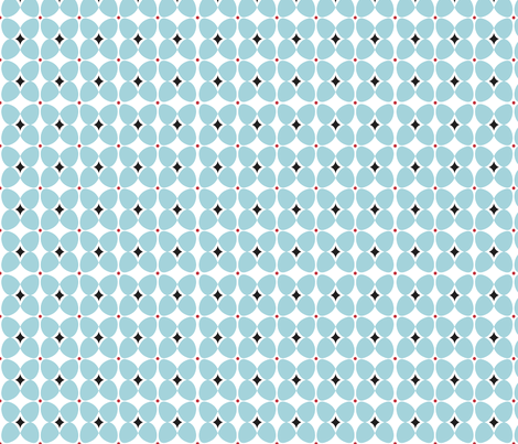 Mod Flora {White/Blue} fabric by printablegirl on Spoonflower - custom fabric