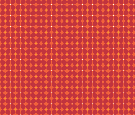 Mod Flora {Orange/Red} fabric by printablegirl on Spoonflower - custom fabric