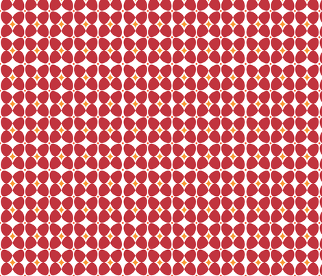 Mod Flora {White/Red} fabric by printablegirl on Spoonflower - custom fabric