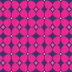 Mod Flora {Navy/Hot Pink}