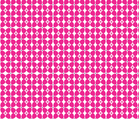 Mod Flora {White/Hot Pink} fabric by printablegirl on Spoonflower - custom fabric