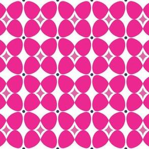 Mod Flora {White/Hot Pink}