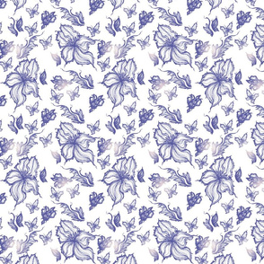 exotic flower vintage pattern