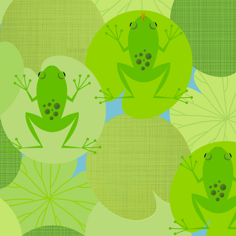 Frog Prints fabric by jenimp on Spoonflower - custom fabric