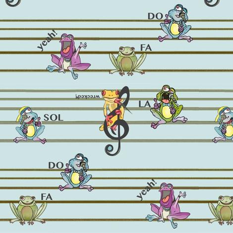 Frogs Y-Tunes fabric by lizartelier on Spoonflower - custom fabric