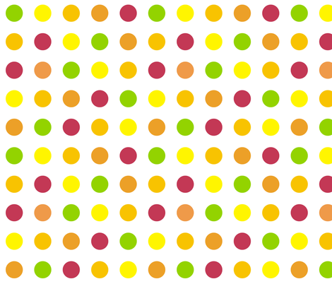 Citrus Polka Dot fabric by smuk on Spoonflower - custom fabric