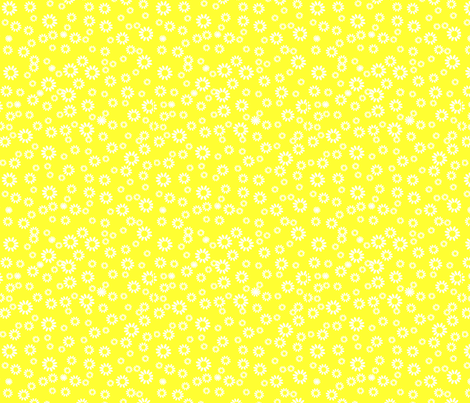 Bright yellow daisies fabric by carinaenvoldsenharris on Spoonflower - custom fabric
