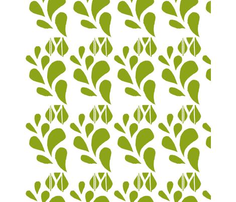 Spring Bloom Green fabric by kanalshah on Spoonflower - custom fabric