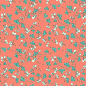 turquoise strawberry flowers