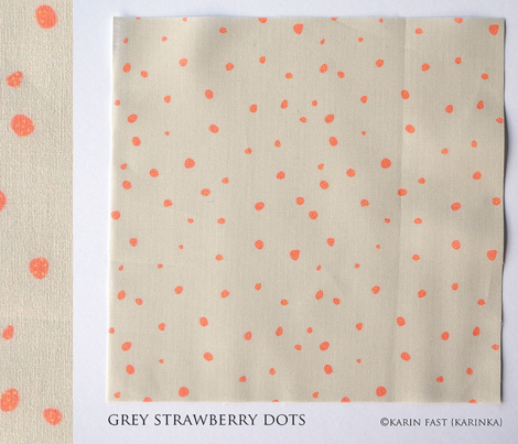 grey strawberry dots