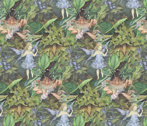 Forest Faeries fabric by thecalvarium on Spoonflower - custom fabric