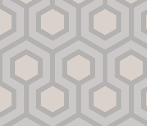 Gray Honeycomb Geo 3 fabric by mariafaithgarcia on Spoonflower - custom fabric