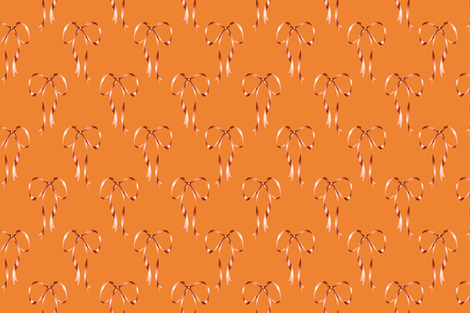 Bows_Orange fabric by tinawilson on Spoonflower - custom fabric
