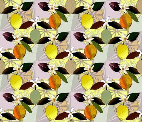 Lemon  fabric by alfabesi on Spoonflower - custom fabric