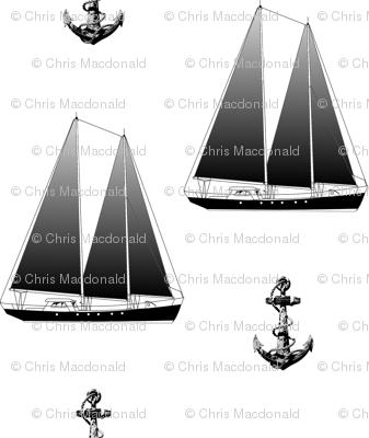 Sailboat And Anchor