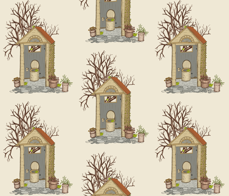 A Room With A View - Antique fabric by rhondadesigns on Spoonflower - custom fabric