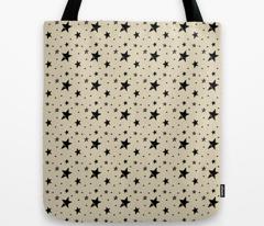 Cream Cappuccino with Black Stars & Dots