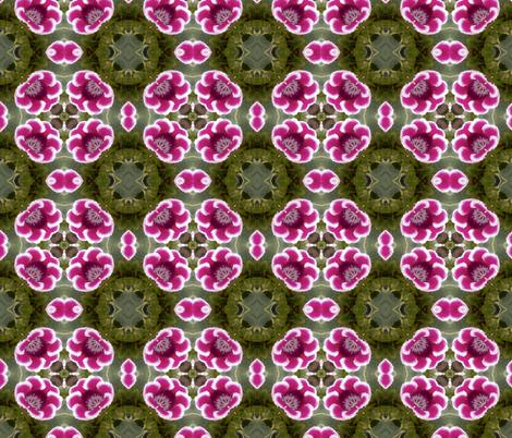 Red Flower Kaleidoscope fabric by koalalady on Spoonflower - custom fabric