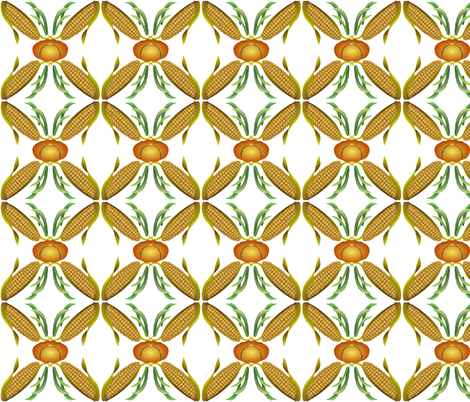 Maize, Beans and Squash - the Three Sisters fabric by anderson_designs on Spoonflower - custom fabric