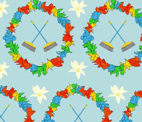 broom_pattern fabric by evapatterndesign on Spoonflower - custom fabric