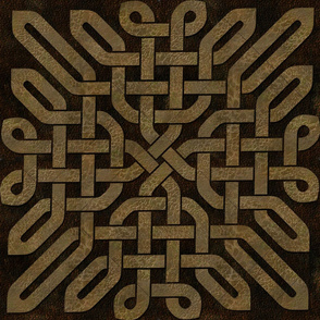 Light Brown Leather Look Celtic Knot