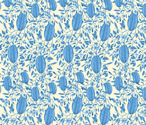 ZiggyStartfruitBlue fabric by tinawilson on Spoonflower - custom fabric