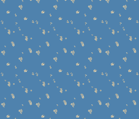 Ziggy_Starfruit_Flowers_Blue fabric by tinawilson on Spoonflower - custom fabric