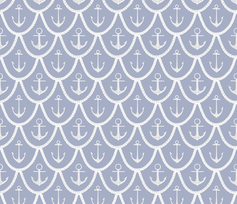 Rope___Anchor fabric by tinawilson on Spoonflower - custom fabric