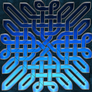 Blue Glass Celtic Knot Pattern