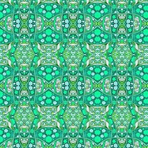 Alien Flower Power Checkerboard Twist