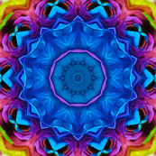 Blue Rainbow Rose Kaleidoscope