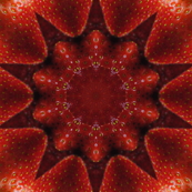 Strawberry Fruit kaleidoscope