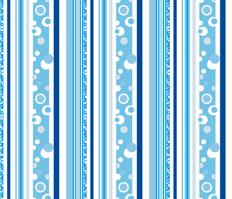 Blue Bike Dots fabric by twobloom on Spoonflower - custom fabric
