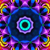 Rainbow Rose Petal Geometric Kaleidoscope