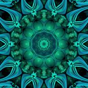 Sea Green 3d Fractal Kaleidoscope