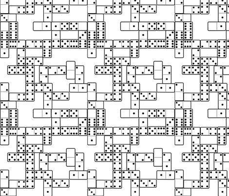 Dominoes B&W fabric by ravynscache on Spoonflower - custom fabric