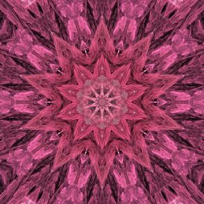 Pink Fractal Star Kaleidoscope