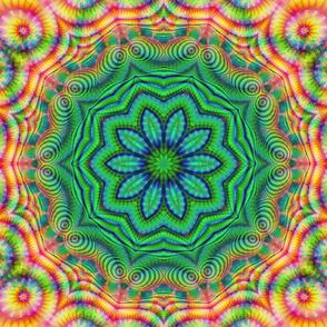 Green Rainbow Fractal