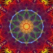 Rainbow Fractal Tile 292 Kaleidoscope