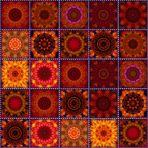 Orange Crazy Quilt