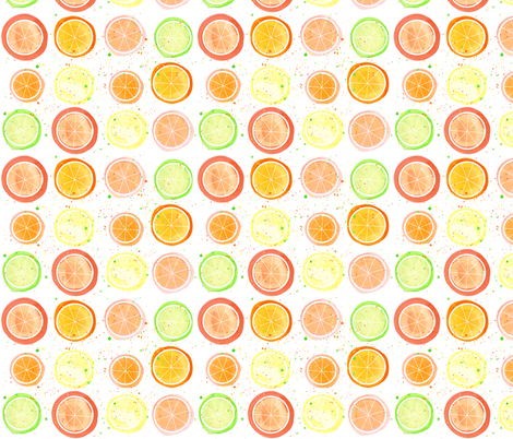 Citrus Fruits fabric by wiccked on Spoonflower - custom fabric