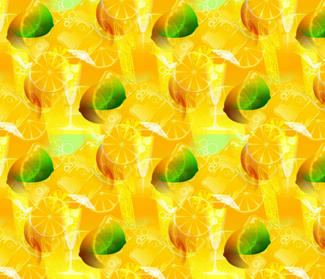 A Citrusy Summertime fabric by charldia on Spoonflower - custom fabric