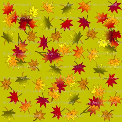 Small Autumn Leaves in Green Tea ©indigodaze2013
