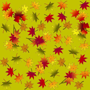 Small Autumn Leaves in Green Tea ©indigodaze2013