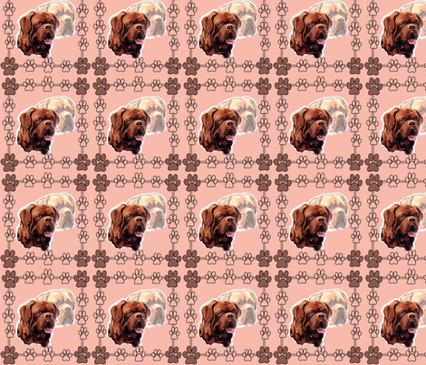 Dogue De Bordeaux Portraits fabric by dogdaze_ on Spoonflower - custom fabric